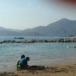 calm children's beach