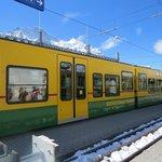 the 1st train from lauterbrunnen to kleine scheidegg