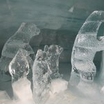 ice sculptures in the ice palace