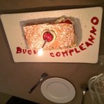 Happy birthday surprise dessert