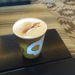 Latte at coffee bar