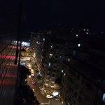 Vista do apartamento para o Mar à noite