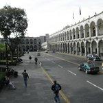 Plaza de Armas Arequipa, desde bus panoramico