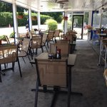 Outside patio at Ocean 235