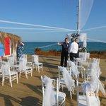 Pier for wedding ceremony