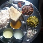 delicious clean kerela thali for lunch
