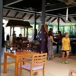 The Cliff Restaurant where the breakfast provided