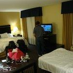 Hampton Inn & Suites Jacksonville - Bartram Park; TV rotates to either side