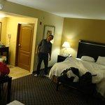 Hampton Inn & Suites Jacksonville - Bartram Park; bathroom in back corner, vanity in center