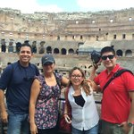 Coliseo Romano con la familia