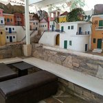 Little village along the wall in outdoor/indoor club area. Something to see!!!