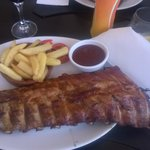 Ribs with excellent barbecue sauce