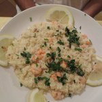 Risotto with lemon and shrimp