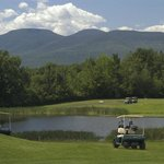 Back nine and view of the Catskill Mountains