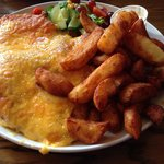 Huge chicken parmo - enough for 2