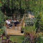 Decking area in the garden