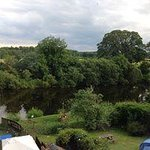 View from our bedroom of the garden and river