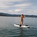 Beautiful day for a paddle board on the lake!
