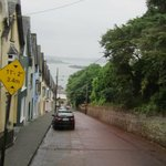 Narrow street down to the pier in Cobh