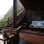 Open air living room with the best views of the Pitons
