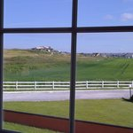 View from room looking at golf club