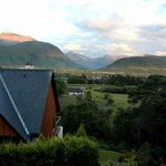 The view of Ben Nevis and Fort William/Glen Nevis from the window