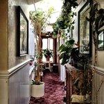 One of the quaint hallways