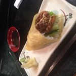 Soft shell crab hand roll - the BEST!