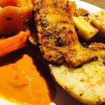 Mahi Mahi, grilled potatoes &veggies