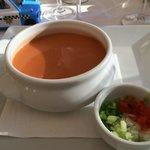 Super lækker kold grøntsagssuppe.