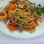 wok gambas calamars