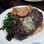 lekkere steak, spinazie was iets minder van smaak