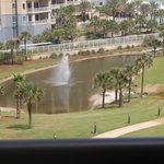 The pond in front of The Edgewater