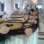 Theme night buffet table.
