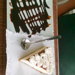 Yummy coconut cheesecake