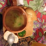 caldo de mandioca com carne seca (estilo vaca atolada)