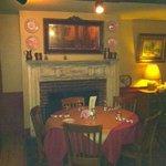 Upstairs fireplace area