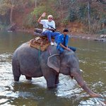 Elephant Park - riding an elephant