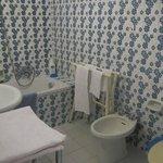 "Lovely deep soaking tub!  ""Classic"" tile."