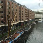 View from room (264) at rear of hotel overlooking St Katherine's Dock
