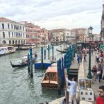 A picture from on the Rialto Bridge