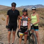 With our guide Amy (middle) Mt. Biking near Las Vegas.