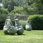 """""""Fighting"""" Men Sculptures"""