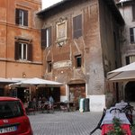 Outside of building where apartment is located, right by Campo de Fiori