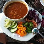 Posole is entree portion.