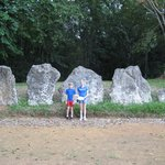 Stones around large flat area for religious or sports event