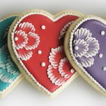 Porcelain Heart sugar cookies and other gourmet cookies are available in our sweets shop.