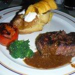 beef tenderloin at steakhouse