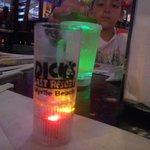 Blinky shot glass