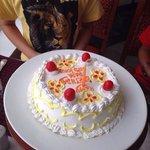 My son & my birthday cake .. Made by Ramada Khajuraho Staff.